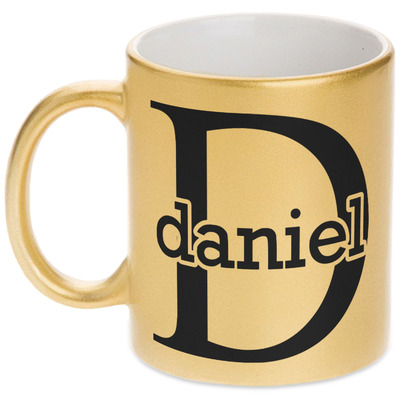 Name & Initial (for Guys) Gold Mug (Personalized)