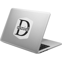 Name & Initial (for Guys) Laptop Decal (Personalized)