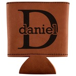 Name & Initial (for Guys) Leatherette Can Sleeve (Personalized)
