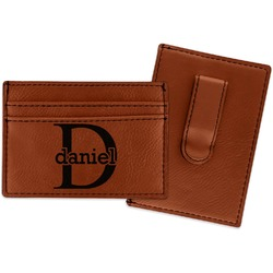 Name & Initial (for Guys) Leatherette Wallet with Money Clip (Personalized)