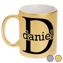 Name & Initial (for Guys) Metallic Mug (Personalized)