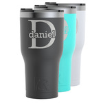 Name & Initial (for Guys) RTIC Tumbler - Black (Personalized)