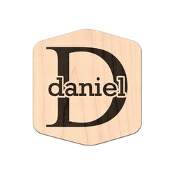 Name & Initial (for Guys) Genuine Maple or Cherry Wood Sticker (Personalized)