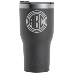 Round Monogram RTIC Tumbler - Black (Personalized)