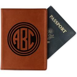 Round Monogram Leatherette Passport Holder (Personalized)