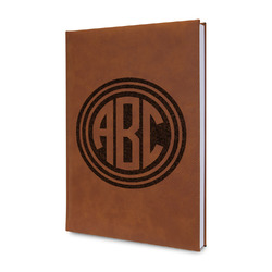 Round Monogram Leatherette Journal (Personalized)