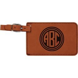 Round Monogram Leatherette Luggage Tag (Personalized)
