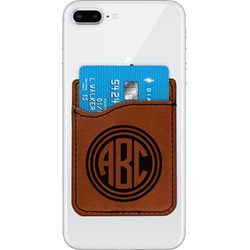 Round Monogram Leatherette Phone Wallet (Personalized)