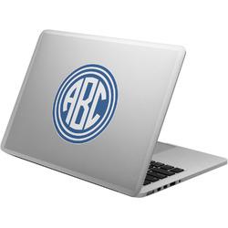 Round Monogram Laptop Decal (Personalized)