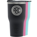 Round Monogram RTIC Tumbler - Black (Personalized)