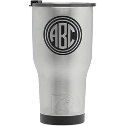 Round Monogram RTIC Tumbler - Silver - Engraved Front (Personalized)