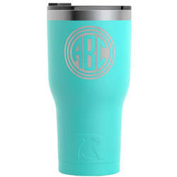 Round Monogram RTIC Tumbler - Teal - Engraved Front (Personalized)