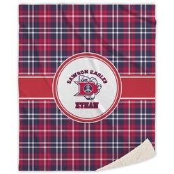 Dawson Eagles Plaid Sherpa Throw Blanket (Personalized)