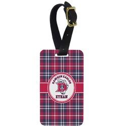 Dawson Eagles Plaid Aluminum Luggage Tag (Personalized)