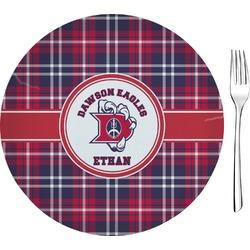 Dawson Eagles Plaid Glass Appetizer / Dessert Plate 8