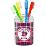 Dawson Eagles Plaid Toothbrush Holder (Personalized)