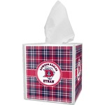 Dawson Eagles Plaid Tissue Box Cover (Personalized)