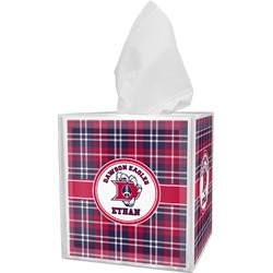 Dawson Eagles Plaid Tissue Box Cover (Personalized)