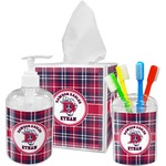 Dawson Eagles Plaid Bathroom Accessories Set (Personalized)