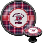 Dawson Eagles Plaid Cabinet Knob (Black) (Personalized)