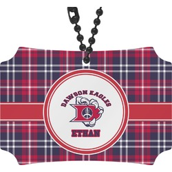 Dawson Eagles Plaid Rear View Mirror Ornament (Personalized)