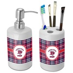 Dawson Eagles Plaid Bathroom Accessories Set (Ceramic) (Personalized)