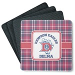 Dawson Eagles Plaid 4 Square Coasters - Rubber Backed (Personalized)