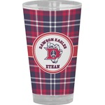 Dawson Eagles Plaid Drinking / Pint Glass (Personalized)