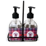 Dawson Eagles Plaid Soap & Lotion Dispenser Set (Glass) (Personalized)
