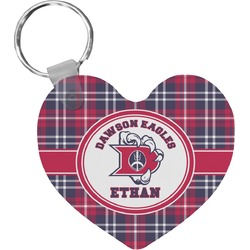 Dawson Eagles Plaid Heart Keychain (Personalized)