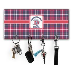 Dawson Eagles Plaid Key Hanger w/ 4 Hooks (Personalized)