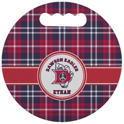 Dawson Eagles Plaid Stadium Cushion (Round) (Personalized)