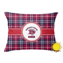 Dawson Eagles Plaid Outdoor Throw Pillow (Rectangular) (Personalized)