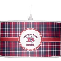 Dawson Eagles Plaid Drum Pendant Lamp (Personalized)