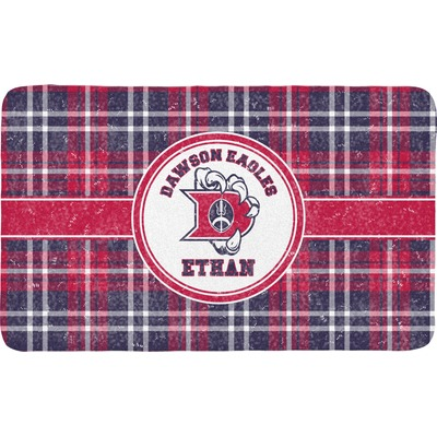 Dawson Eagles Plaid Bath Mat (Personalized)