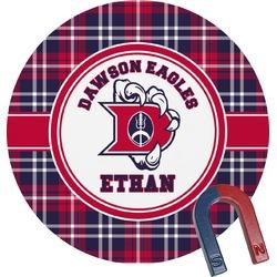 Dawson Eagles Plaid Round Magnet (Personalized)
