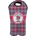 Dawson Eagles Plaid Wine Tote Bag (2 Bottles) (Personalized)