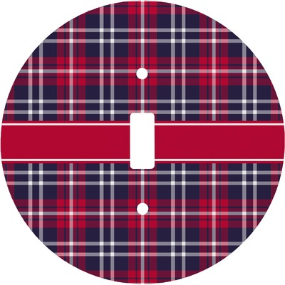 Dawson Eagles Plaid Round Light Switch Cover (Personalized)