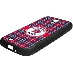 Dawson Eagles Plaid Rubber Samsung Galaxy 4 Phone Case (Personalized)