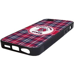Dawson Eagles Plaid Rubber iPhone 5/5S Phone Case (Personalized)