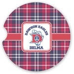 Dawson Eagles Plaid Sandstone Car Coasters (Personalized)