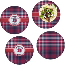 Dawson Eagles Plaid Set of 4 Glass Lunch / Dinner Plate 10