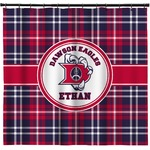 Dawson Eagles Plaid Shower Curtain (Personalized)
