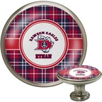 Dawson Eagles Plaid Cabinet Knob (Silver) (Personalized)