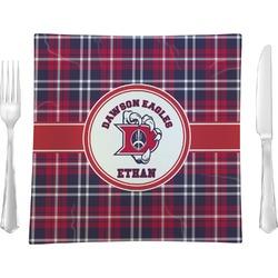 Dawson Eagles Plaid Glass Square Lunch / Dinner Plate 9.5