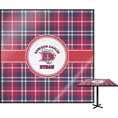 Dawson Eagles Plaid Square Table Top - 24