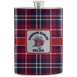 Dawson Eagles Plaid Stainless Steel Flask (Personalized)