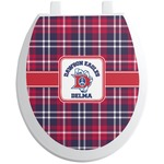 Dawson Eagles Plaid Toilet Seat Decal (Personalized)