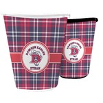 Dawson Eagles Plaid Waste Basket (Personalized)