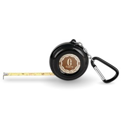 Coffee Lover Pocket Tape Measure - 6 Ft w/ Carabiner Clip (Personalized)